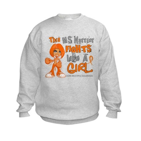 Fights Like a Girl 42.9 MS Kids Sweatshirt