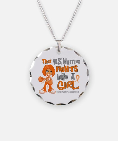 Fights Like a Girl 42.9 MS Necklace Circle Charm