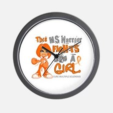 Fights Like a Girl 42.9 MS Wall Clock
