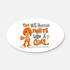 Fights Like a Girl 42.9 MS Oval Car Magnet