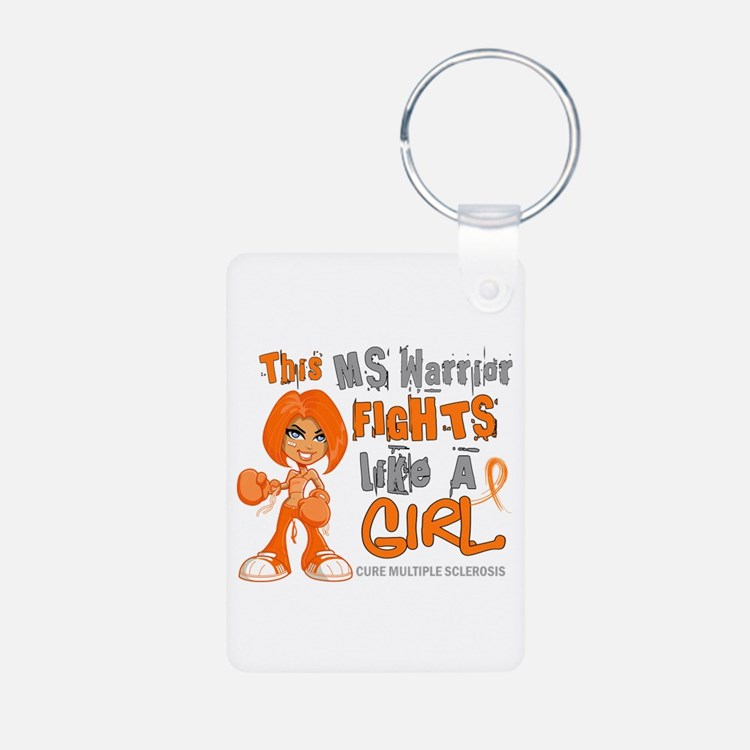 Fights Like a Girl 42.9 MS Keychains