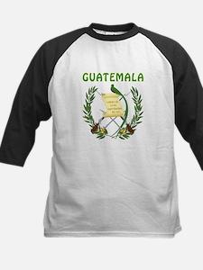 Guatemala Coat of arms Kids Baseball Jersey