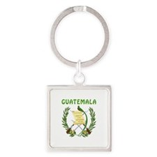 Guatemala Coat of arms Square Keychain