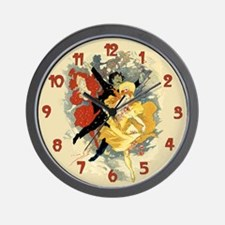 Vintage Dance Hall Poster Art Wall Clock