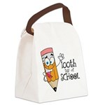 100th Day Of School gift Canvas Lunch Bag