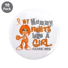 "Fights Like a Girl 42.9 MS 3.5"" Button (10 pack)"