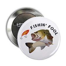 "Fishing Fool 2.25"" Button"
