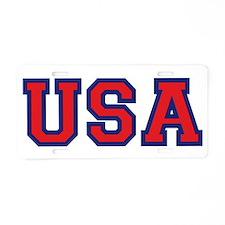 USA Logo Aluminum License Plate