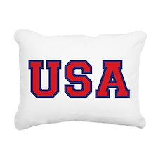 USA Logo Rectangular Canvas Pillow