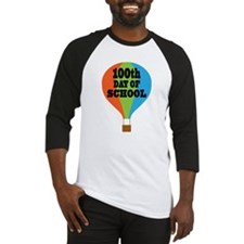 100th Day Of School balloon Baseball Jersey