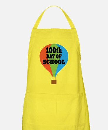 100th Day Of School balloon Apron