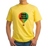 100th Day Of School balloon Yellow T-Shirt