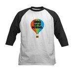 100th Day Of School balloon Kids Baseball Jersey