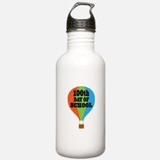 100th Day Of School balloon Water Bottle