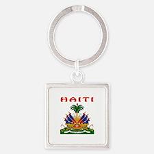 Haiti Coat of arms Square Keychain
