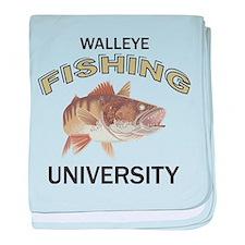 Walleye Fishing University baby blanket