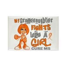 Fights Like a Girl 42.9 MS Rectangle Magnet