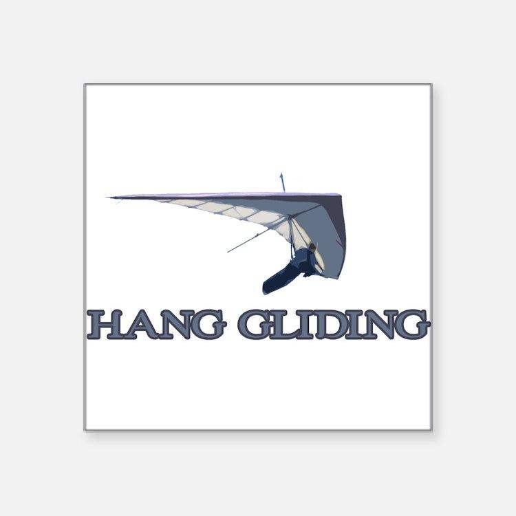 "Hang Gliding Square Sticker 3"" x 3"""