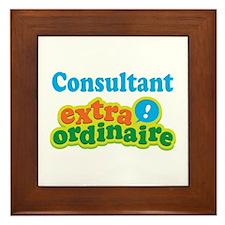 Consultant Extraordinaire Framed Tile
