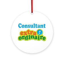 Consultant Extraordinaire Ornament (Round)