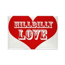 Hillbilly LOVE Rectangle Magnet
