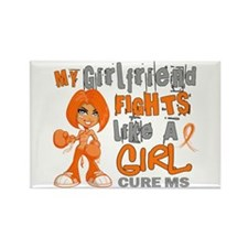Fights Like a Girl 42.9 MS Rectangle Magnet (10 pa