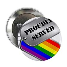 "Gay Military Dog Tags 2.25"" Button"