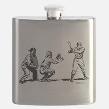 Batter Catcher Umpire Flask