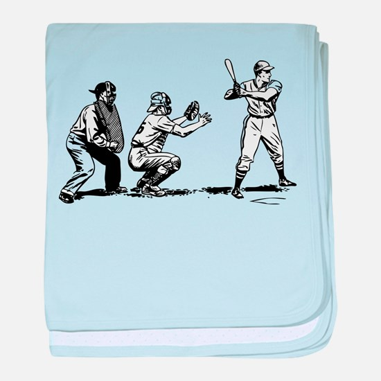 Batter Catcher Umpire baby blanket