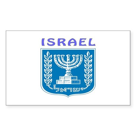 Israel Coat of arms Sticker (Rectangle)