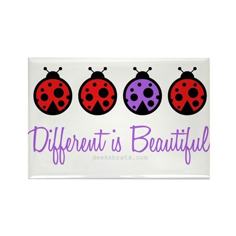 different is beautiful Rectangle Magnet