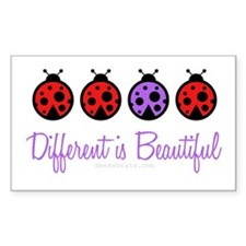 different is beautiful Rectangle Decal
