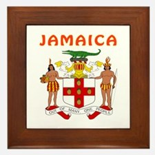 Jamaica Coat of arms Framed Tile