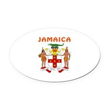 Jamaica Coat of arms Oval Car Magnet