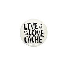 Live, Love, Cache Mini Button