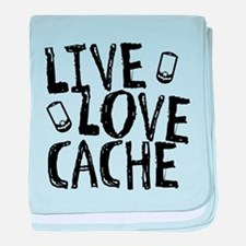 Live, Love, Cache baby blanket