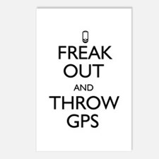 Freak Out and Throw GPS Postcards (Package of 8)
