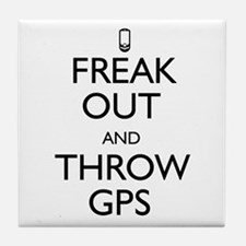 Freak Out and Throw GPS Tile Coaster
