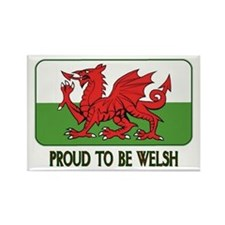 ...Proud To Be Welsh... Oblong Magnet