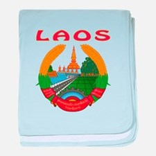 Laos Coat of arms baby blanket