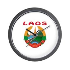 Laos Coat of arms Wall Clock