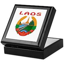 Laos Coat of arms Keepsake Box