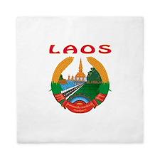 Laos Coat of arms Queen Duvet