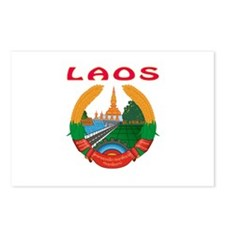 Laos Coat of arms Postcards (Package of 8)