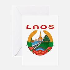 Laos Coat of arms Greeting Card
