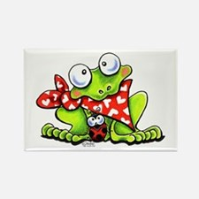 Blushing Frog Rectangle Magnet
