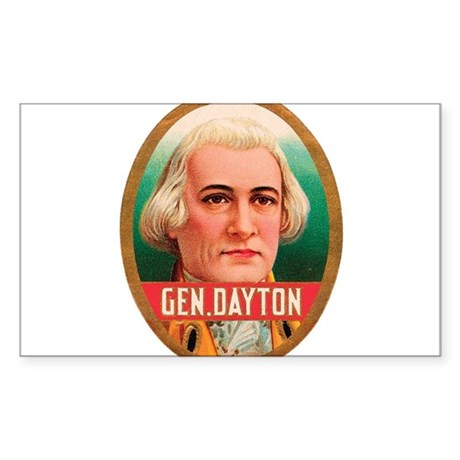General Dayton Tobacco Label Sticker (Rectangle)