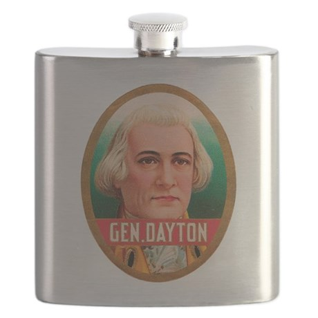 General Dayton Tobacco Label Flask