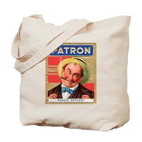 old time patron label tote bag by backspacklenostalgia. Black Bedroom Furniture Sets. Home Design Ideas