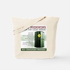 Buy Organic square white bg Tote Bag